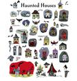 hauntedhouses vector image