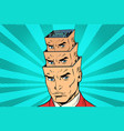 head a maze of personality inside the vector image