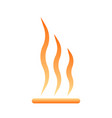 heating icon on white vector image vector image