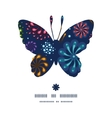 holiday fireworks butterfly silhouette pattern vector image vector image