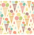 Ice cream cones seamless pattern background vector image