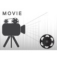 icons of the camera and film on a gray background vector image vector image