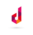 Letter D mosaic logo icon design template elements vector image vector image