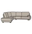 light big sofa vector image vector image