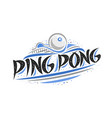 logo for ping pong vector image vector image