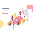 meeting room isometric concept isometric design vector image vector image