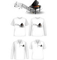 mock up shirt with piano music instruments logo vector image