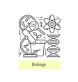 Modern thin line icons of biology