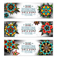 old school tattoo flowers vector image vector image
