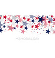 red and blue american scattered stars vector image