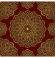 Red pattern of mandalas vector image vector image