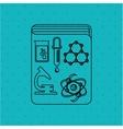scientific laboratory design vector image vector image
