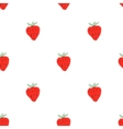 Seamless natural color pattern of strawberries vector image vector image