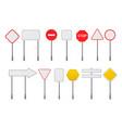 set blank traffic road signs vector image vector image