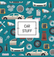 set of car parts background vector image vector image