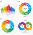 set of infographic templates with 12 options vector image vector image