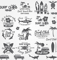 Set of retro vintage badges and labels For web vector image vector image