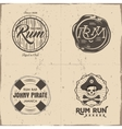 Set of vintage handcrafted pirates emblems labels vector image vector image