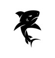 shark danger logo design isolated template vector image
