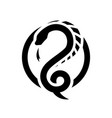 snake dragon round logo symbol vector image vector image