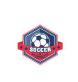 soccer ball shield badge of football sport game vector image vector image