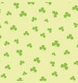 st patricks day background with shamrock pattern vector image