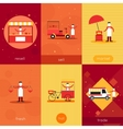 Street food mini poster set vector image