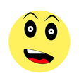 surprised smiley on white background vector image