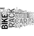 the car bike rack a good investment text vector image vector image