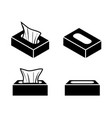 tissue box icons in flat style design vector image vector image