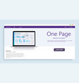 website template for websites or appsanalysis vector image