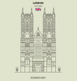 westminster abbey in london vector image