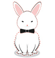 White Bunny with Bow vector image vector image
