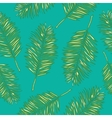 Palm leaves abstract seamless pattern vector image