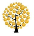 a money tree with coins vector image