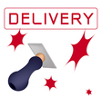 A Rubber Stamp With A Word Delivery vector image vector image