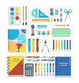 a set for school and office vector image vector image