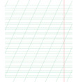 a sheet of school notebook in a ruler with a vector image vector image