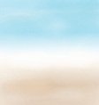 abstract beach landscape in watercolor 2605 vector image vector image