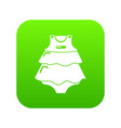 baby dress icon green vector image