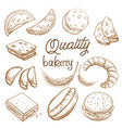 bakery set hand drawn vector image