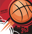 Basketball poster design vector image