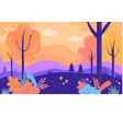 beautiful colorful autumn forest autumn trees vector image vector image