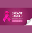 breast cancer awareness month in october turn vector image vector image