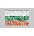 Bulgaria flag design concept vector image vector image