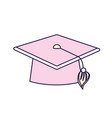cap graduation object design vector image vector image