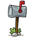 cartoon silver mailbox icon vector image