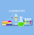 chemistry lesson concept background flat style vector image vector image