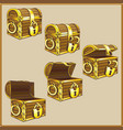 chest set for game interface vector image vector image