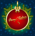 christmas background with fir branches and snow vector image vector image